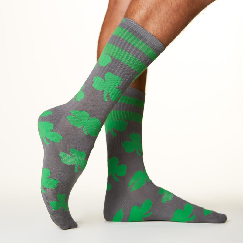 Lucky Clover socks side profile view