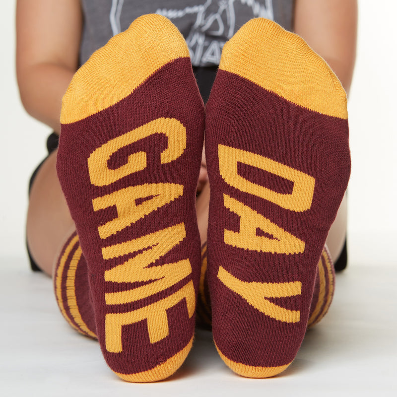 Game Day socks bottom front view