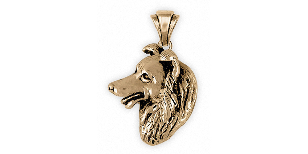 Border Collie Charms Border Collie Pendant 14k Gold Dog Jewelry Border Collie jewelry