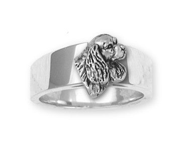 Cavalier King Charles Spaniel Ring Jewelry Handmade Sterling Silver CV7-R