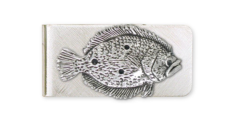 Flounder Charms Flounder Money Clip Sterling Silver Fish Jewelry Flounder jewelry