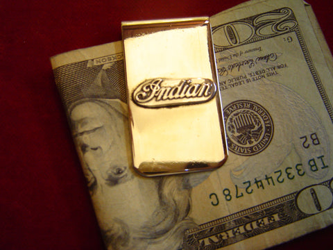 Money Clip: Indian Bar Script in Sterling
