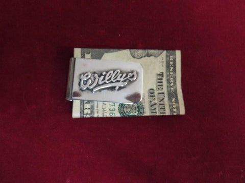 "Money Clip: ""Willys"" Sterling script"