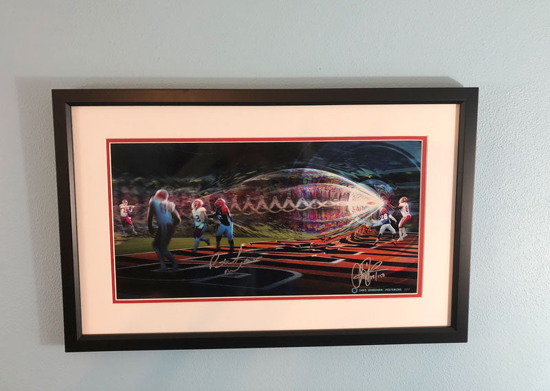Framed: Railgun Signed by Patrick Mahomes