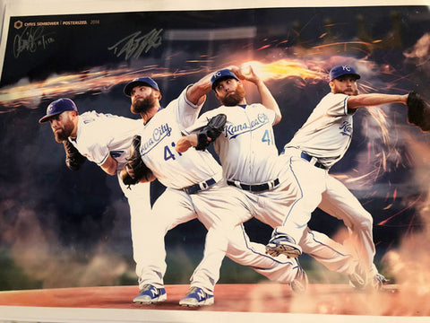 "Signed by Danny Duffy: Snapshot 13x19"" Print"