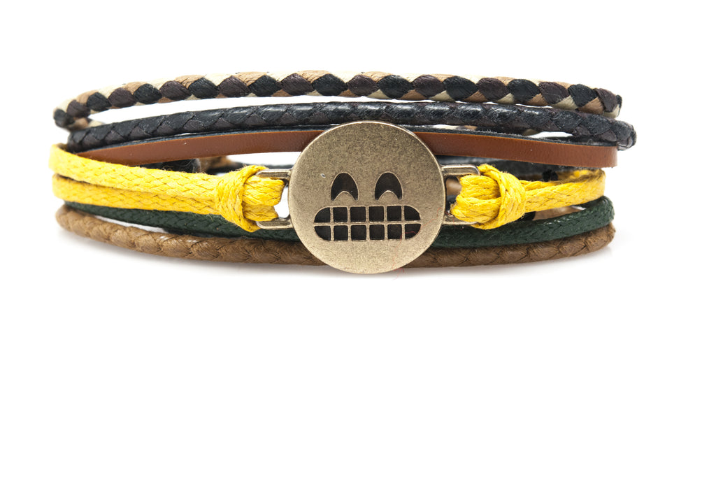 Emoji Bracelet Grinning Face With Smiling Eyes - Orti Jewelry
