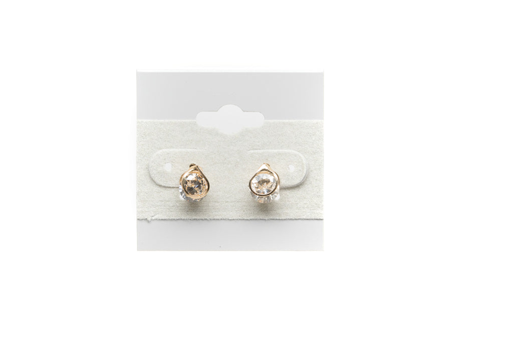 Solitaire with Cubic Zirconia Fashion Earrings - Orti Jewelry