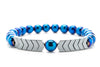 Blue Hematite Gemstones Beaded Bracelet for Men and Women
