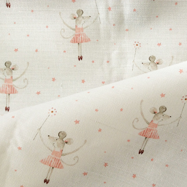 Peony & Sage Mrs Mouse Loves Ballet Linen - Offcut - Lolly & Boo - 1