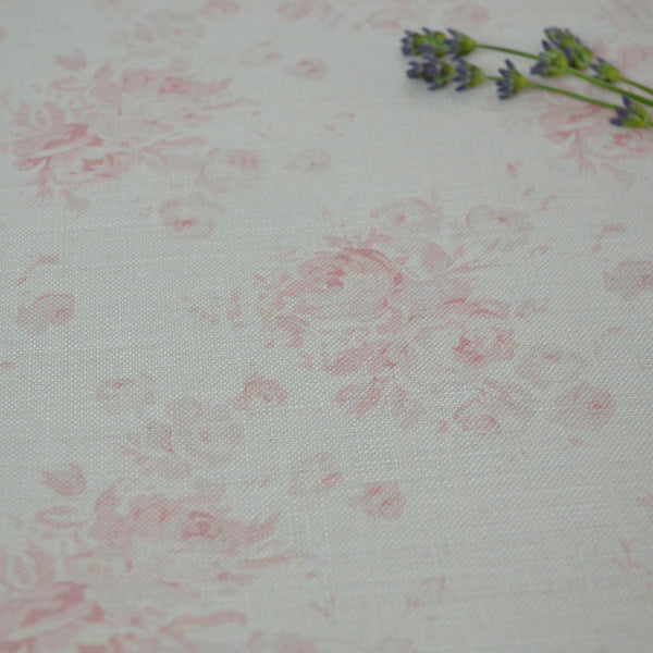 Peony & Sage Millie (Powder Pinks) Linen - Offcut - Lolly & Boo