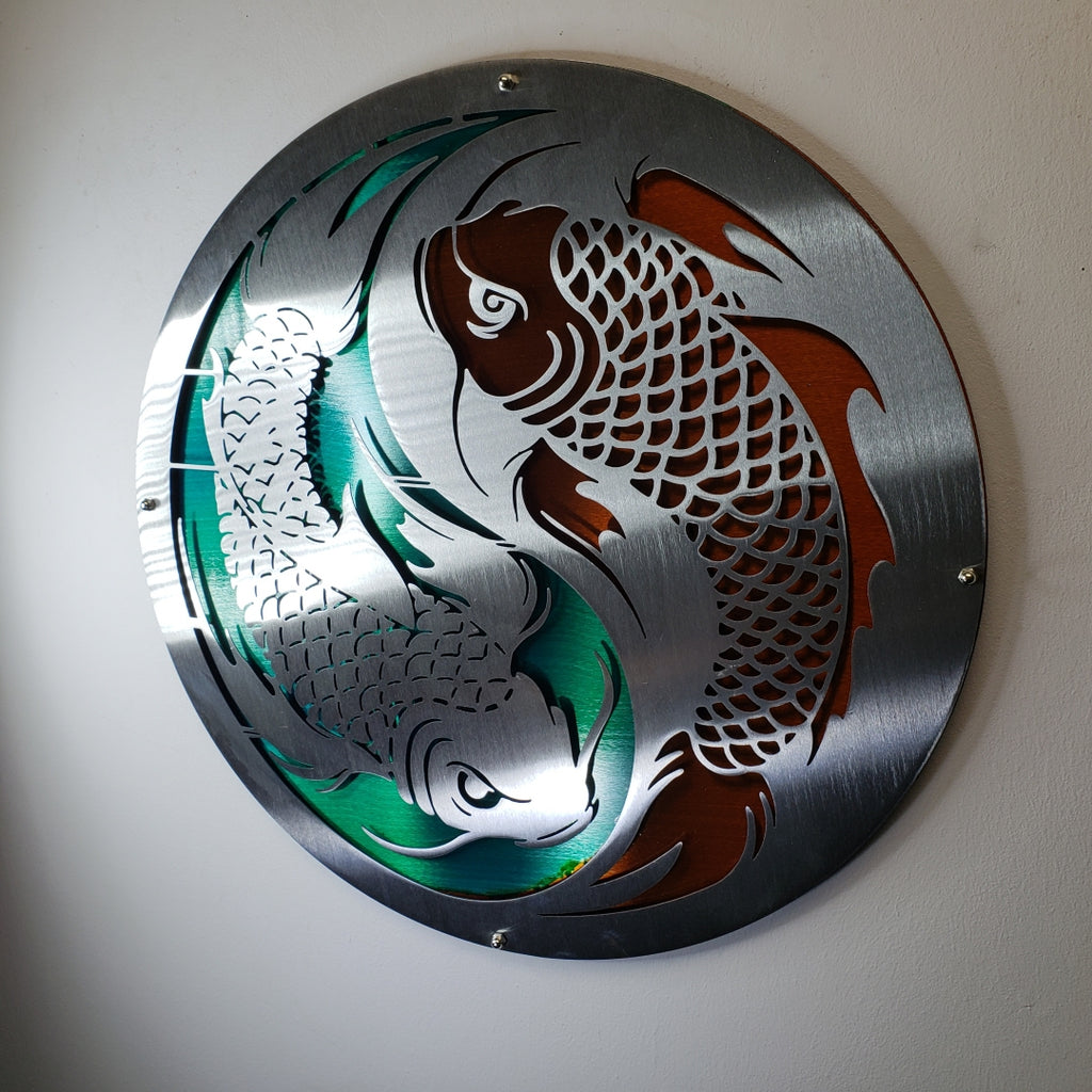 Layered Koi Fish Ying Yang