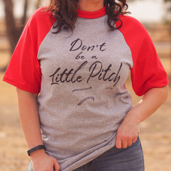 Little Pitch Baseball Tee in Red - Southern Mess Boutique