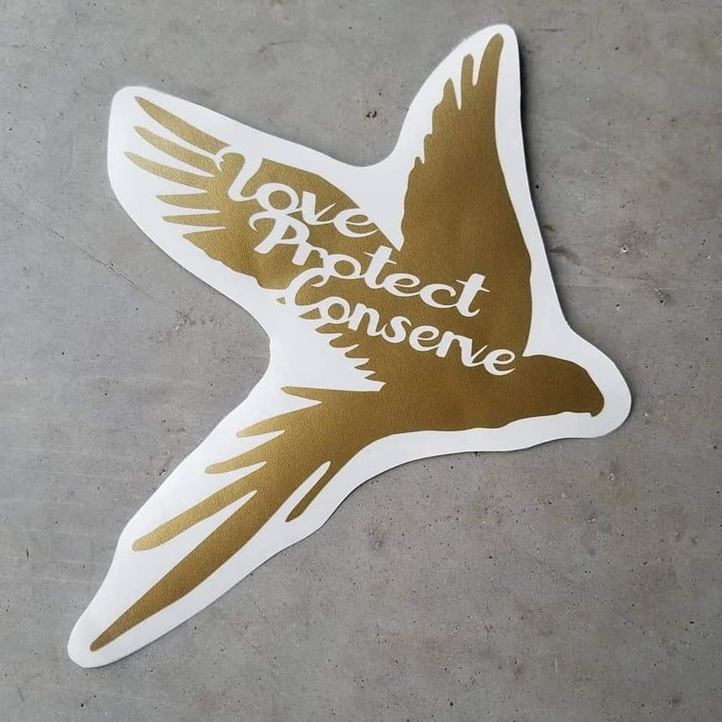Macaw - Love Protect Conserve - Vinyl Decal