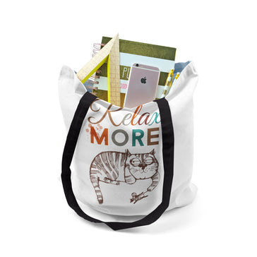Tote, Relax More Cat by Ziya Blue
