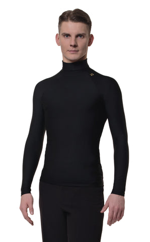 rs atelier william mens long sleeve turtleneck fitted stretch dance top from dancewear for you