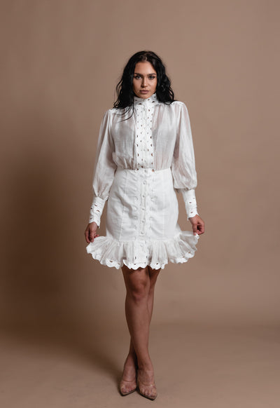 AVA LACE DRESS-WHITE