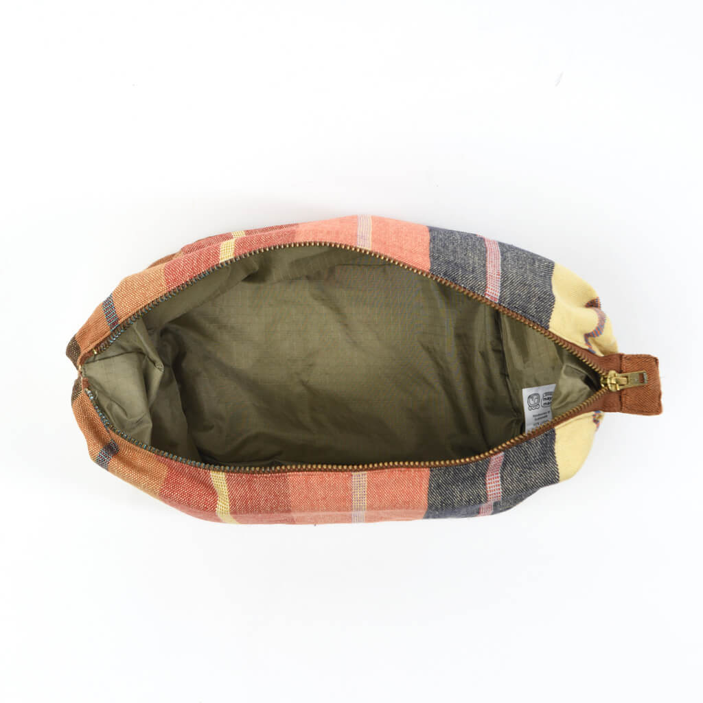 Toiletry Bag | Wide Caramel Stripes