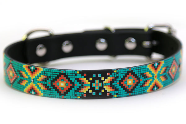 Waterproof Dog Collar - Aztec Pattern