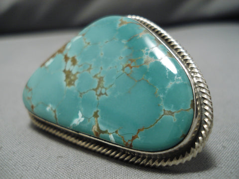 Important Rick Martinez Sterling Silver #8 Turquoise Native American Ring