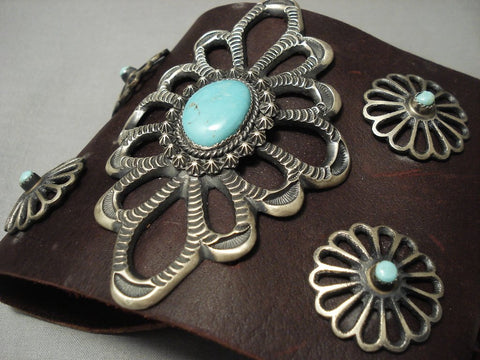 Huge Modernistic Navajo Turquoise Native American Jewelry Silver Ketoh Bracelet-Nativo Arts
