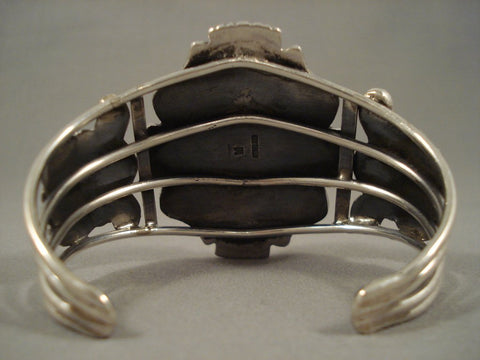 Incredible Vintage Navajo Sb Turquoise Sterling Native American Jewelry Silver Bracelet-Nativo Arts