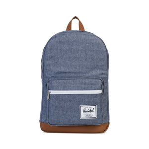 Pop Quiz Backpack- Dark Chambray Crosshatch