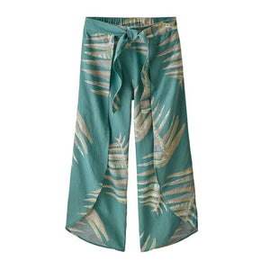 Garden Island Pants - Palms of my Heart Big: Dam Blue