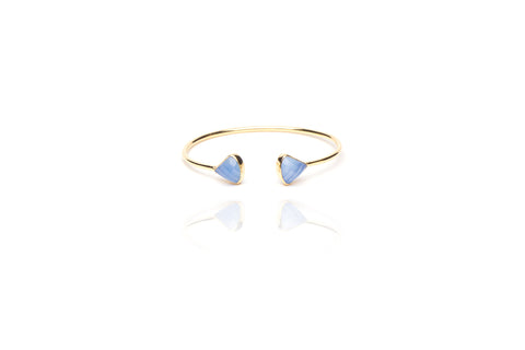 Beach Baby Bangle in Blue Chalcedony