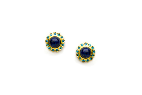 Bloom Earrings in Blue
