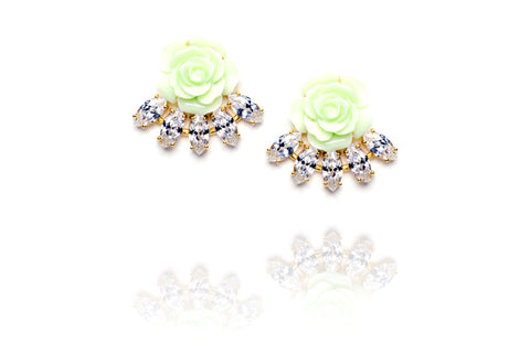 Floret Studs in Green