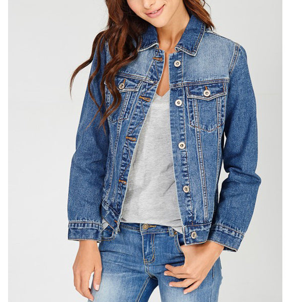 Ellie Classic Denim Jacket - Prairie Rose Boutique