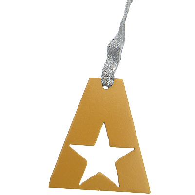 Army A Star Gold Dangler Ornament