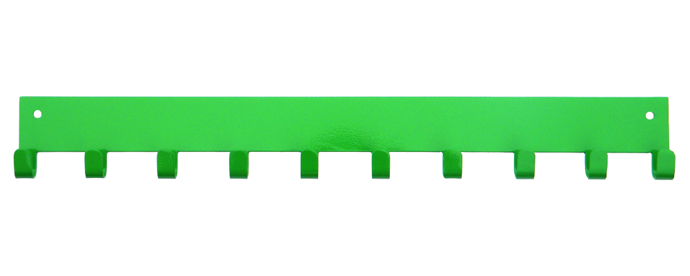 3rd Row Add-on Bar Hot Green 10 Hook Medal Display Hanger