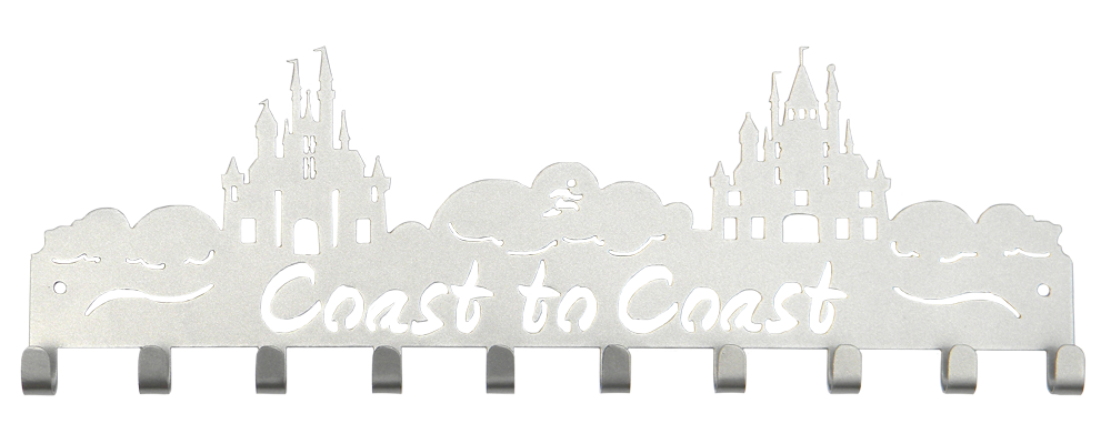 Disney Coast to Coast 10 Hook Silver Medal Hanger