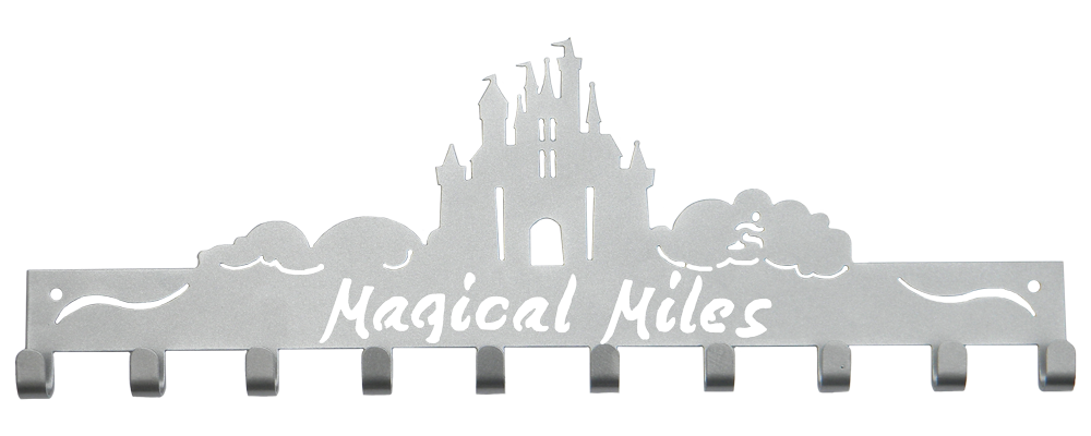 Disney Magical Miles Castle 10 Hook Silver Medal Hanger