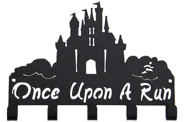 Disney Once Upon A Run Castle 5 Hook Black runDisney Medal Hanger