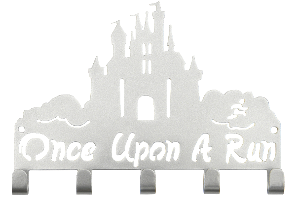 Disney Once Upon A Run Castle 5 Hook Silver runDisney Medal Hanger