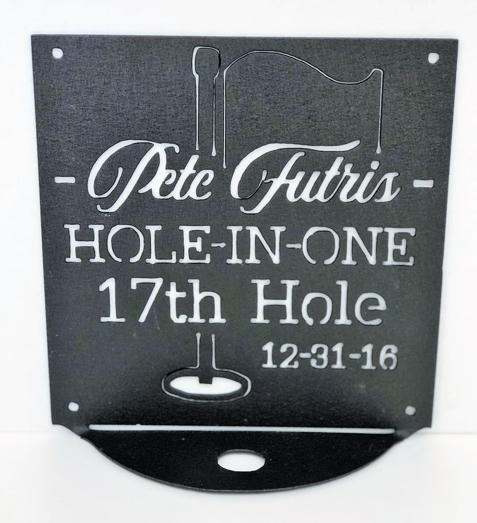 Hole-in-One Golf Plaque