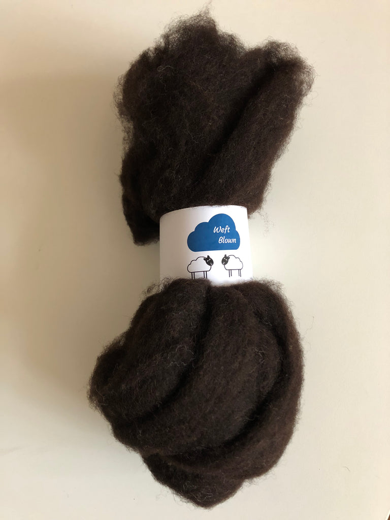 Ayrshire Zwartbles Natural Unwashed Carded Fleece