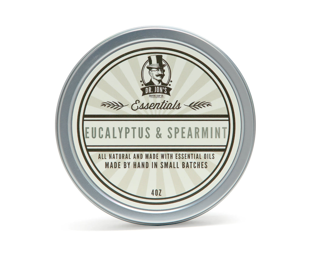 Dr. Jon's Essentials Eucalyptus & Spearmint Shaving Soap