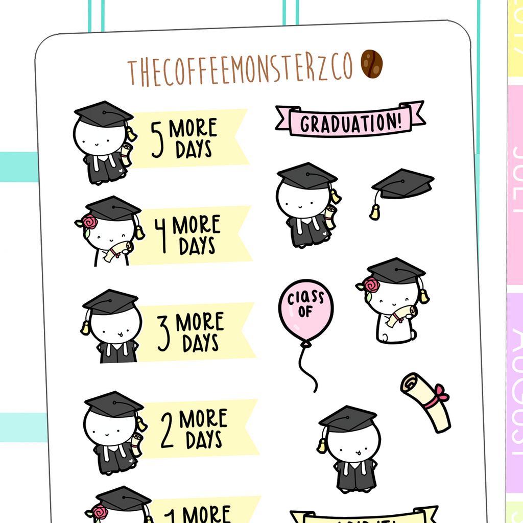 graduation countdown, TheCoffeeMonsterzCo
