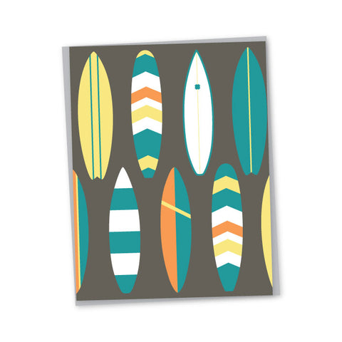 Bold Surf Folded Note Cards - Single or Set of 6