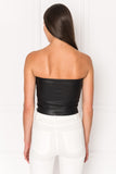 NISA Crop Leather Tube Top