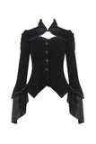 JW172 Gothic gorgeous bishop sleeves buttoned velvet jacket