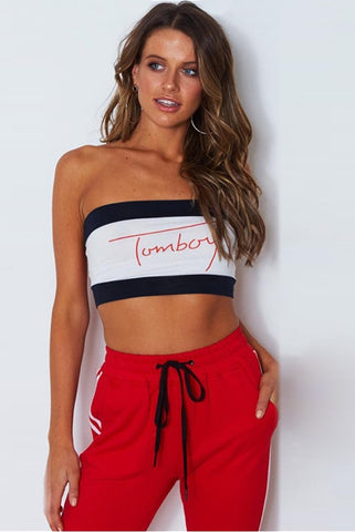 "Tommy Hilfiger Inspired ""Tomboy"" Bandeau - Tube Top Company - Tube Tops Less Than $10"