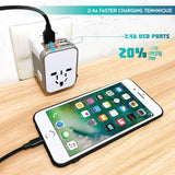 Power Plug Adapter - International Travel - w/USB Ports Work for 150+...