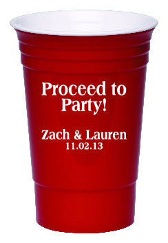 Party Cup - Proceed to Party! Qty. 100 - Wedding Favors Plus - 1