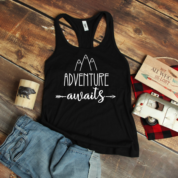 Adventure Awaits Women's Ideal Racerback Tank
