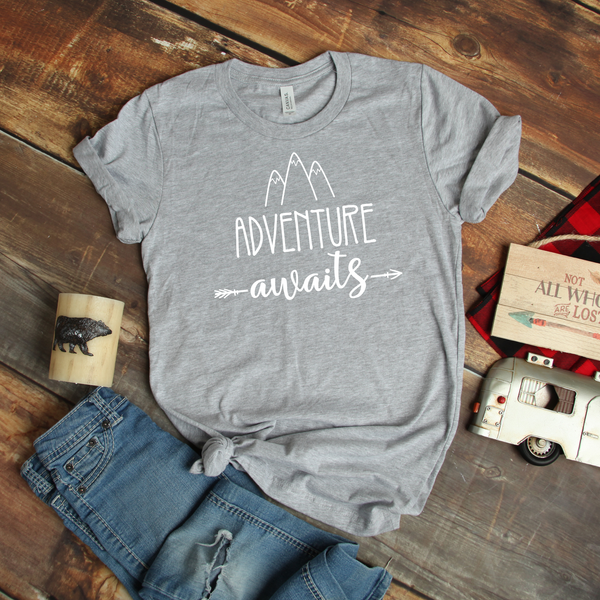 Adventure Awaits Unisex Jersey Short Sleeve Tee