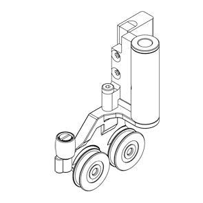 roller with mounting bracket